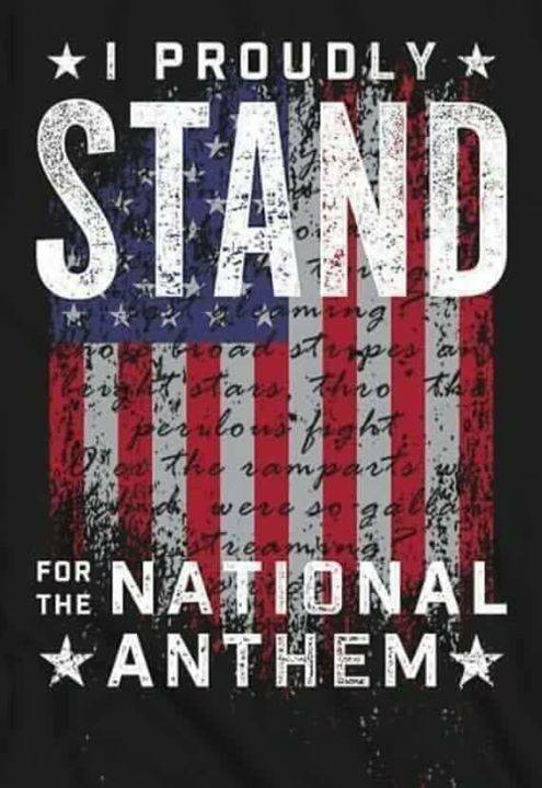 I Proudly Stand For The National Anthem Pictures Photos