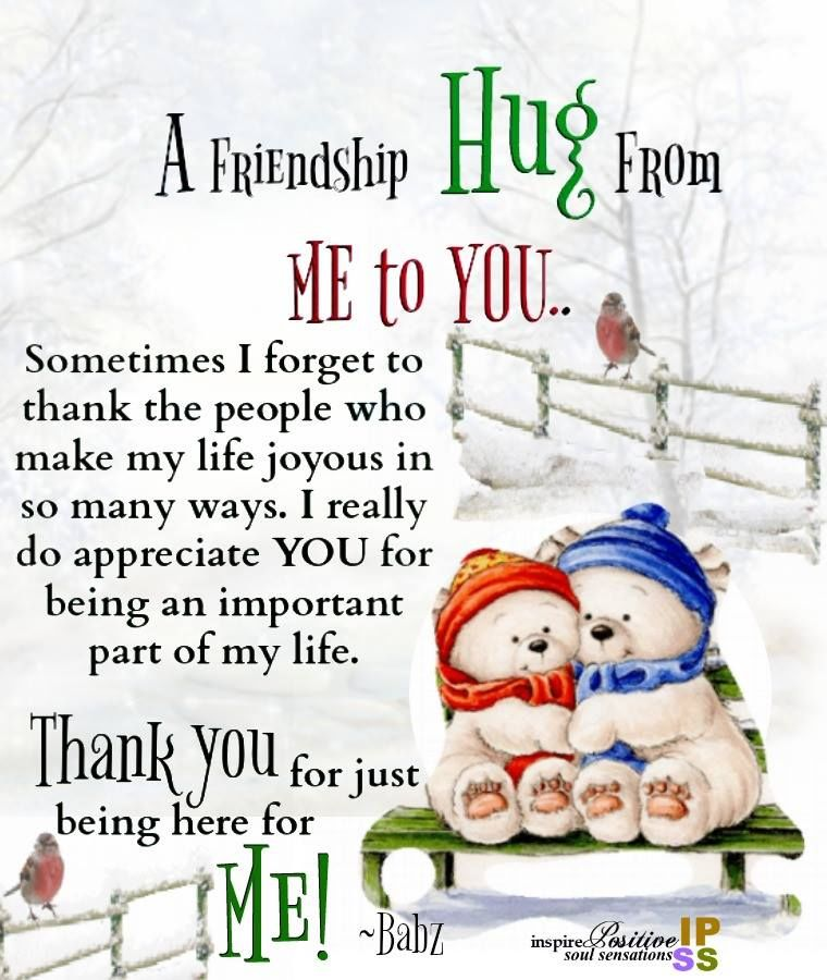 A Friendship Hug From Me To You Pictures Photos And