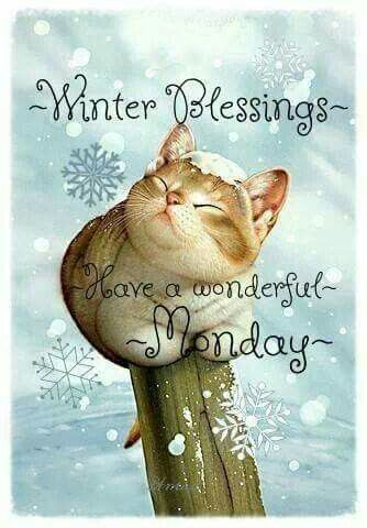 Winter Blessings Have A Wonderful Monday Pictures Photos