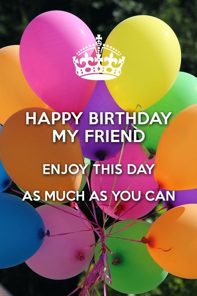Colorful Balloon Happy Birthday Friend Quotes Pictures