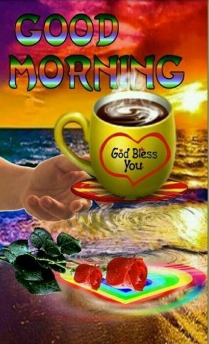 Sunrise Rainbow Coffee Good Morning Image Pictures Photos