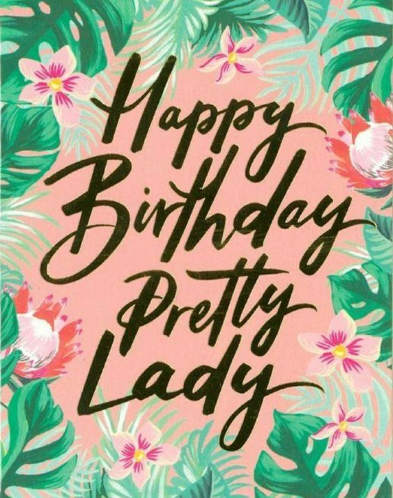happy birthday pretty lady