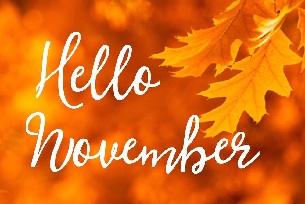 Welcome Fall Wallpaper Leafy Hello November Quote Pictures Photos And Images