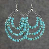 Hoop Earrings Are Handmade Using Turquoise Pictures ...