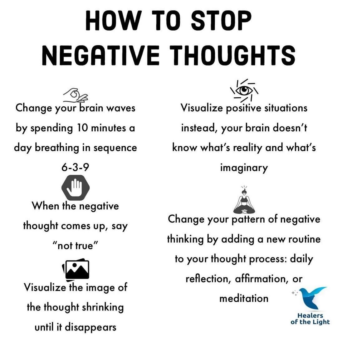How To Stop Negative Thoughts Pictures Photos And Images
