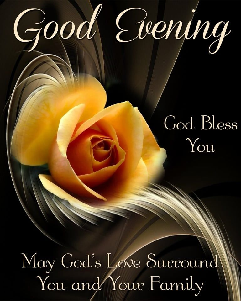 Good Evening God Bless You Quote With Yellow Flower Pictures, Photos, and  Images for Facebook, Tumblr, Pinterest, and Twitter