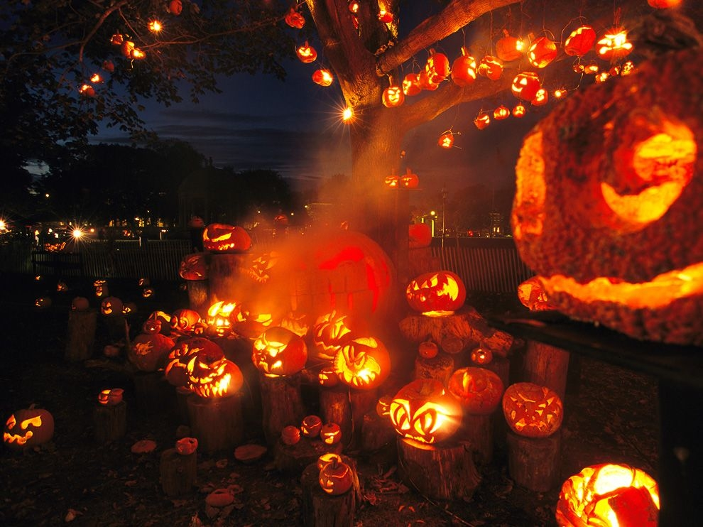 Fall Wallpaper 1440p Lots Of Jack O Lanterns Pictures Photos And Images For