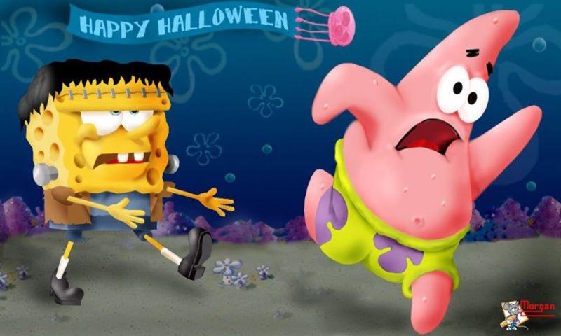 spongebob happy halloween pictures