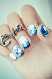 ocean waves nails