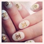 chanel logo nail art
