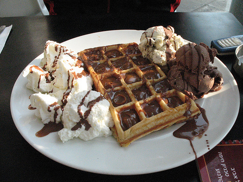 Images Of Cute Candy Wallpaper Chocolate Waffles With Ice Cream Pictures Photos And