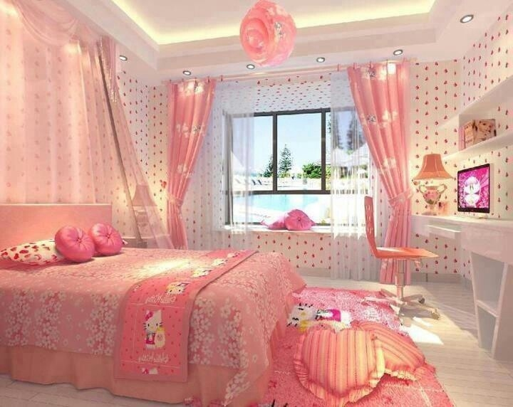 Hello Kitty Pink Bedroom Pictures Photos and Images for Facebook Tumblr Pinterest and Twitter