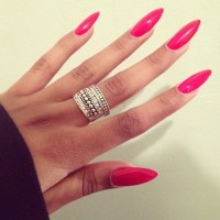 Long Hot Pink Nails Pictures, Photos, and Images for ...