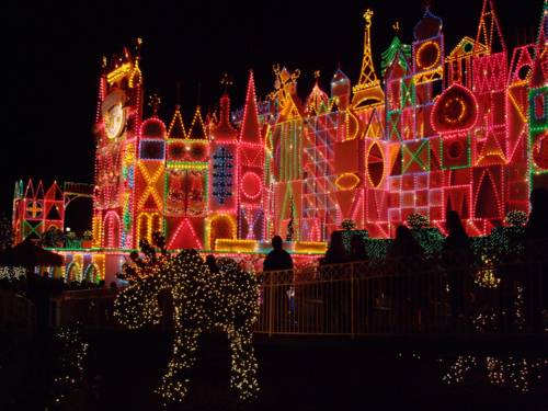 1920x1080 Wallpaper Quote Its A Small World Christmas Lights From Disneyland