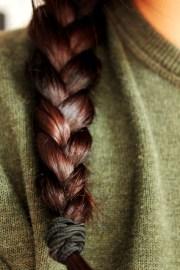 dark auburn braid