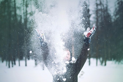 Free Christmas Falling Snow Wallpaper Playing In The Snow Pictures Photos And Images For