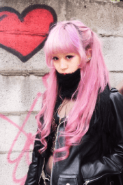 pink kawaii hair