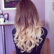 blonde dye tips