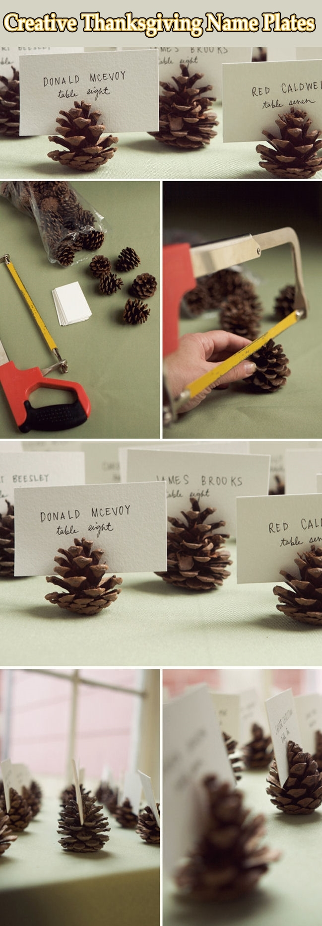 DIY Thanksgiving Name Plates Pictures Photos And Images
