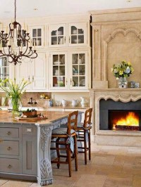 Beautiful Kitchen With Fireplace Pictures, Photos, and ...