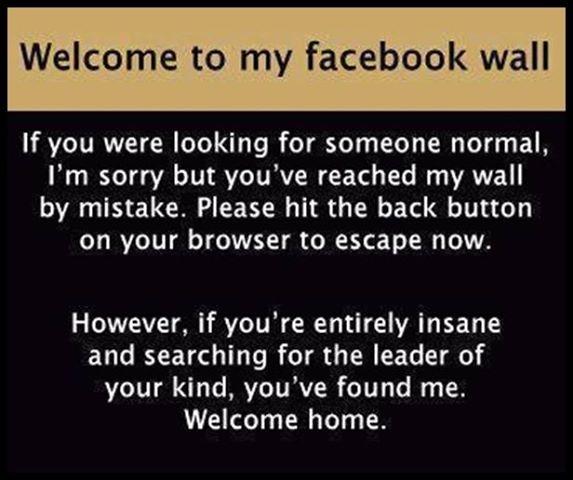 Wall Sayings Facebook Funny