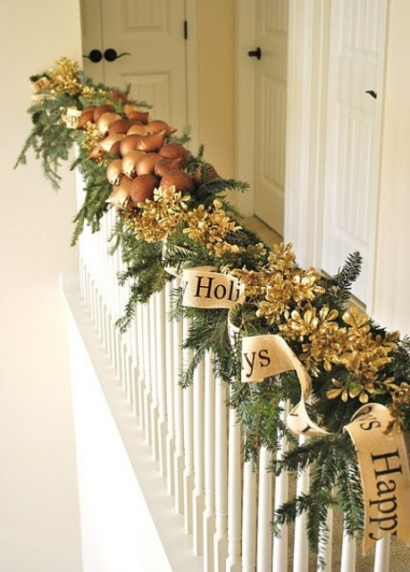 Happy Holidays Banister Decor