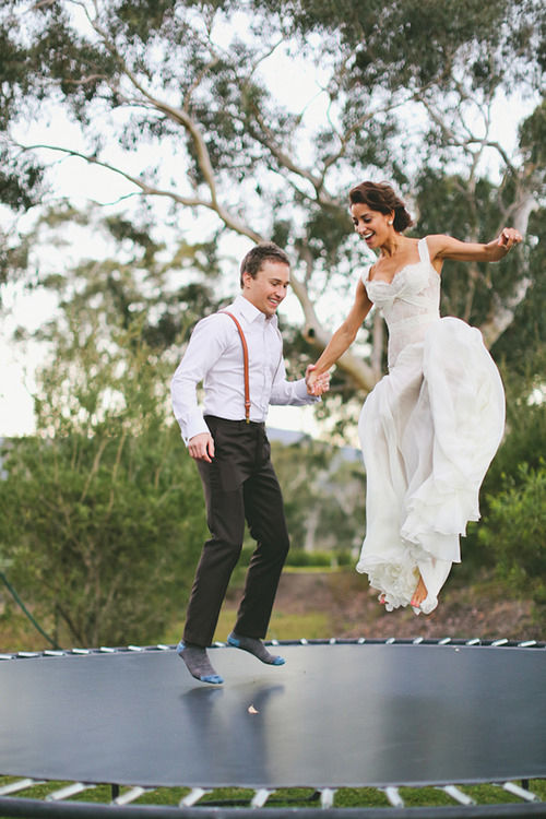 Trampoline Bride And Groom Pictures Photos and Images