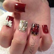 acrylic nails valentines day