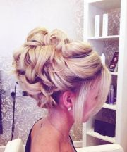 curly bun hairstyle