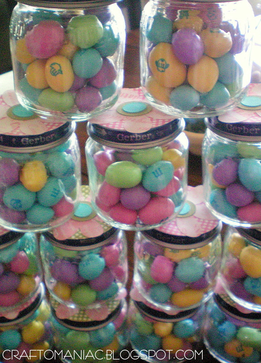 Baby Shower Easter Favors From Recycled Baby Food Jars
