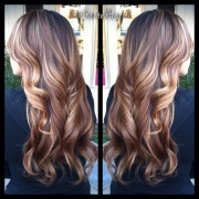 ombre brunette curly hair