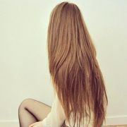 super long and straight hair