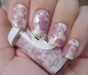 purple vintage nails