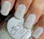 beautiful white pearl nails