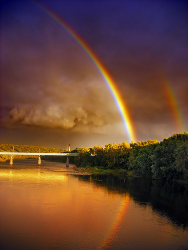 Beautiful Scenery Wallpaper With Quotes Double Rainbow Pictures Photos And Images For Facebook
