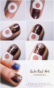 diy owl nail art