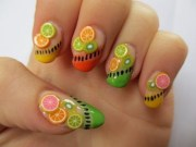 summer fruit nail art design