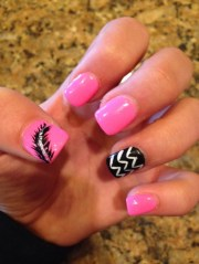 girly diy acrylic nail design