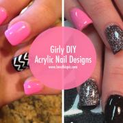 girly diy acrylic nail design