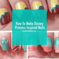 How To Make Disney Princess Inspired Nails