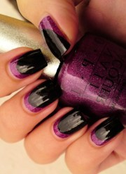 two tone nail art design