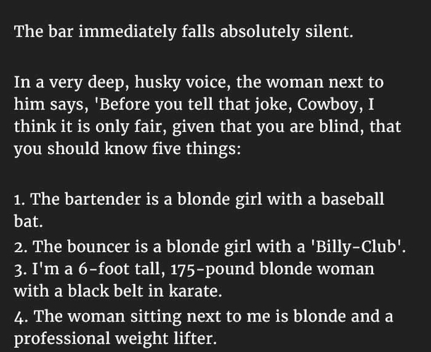Tell Me Blonde Joke