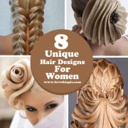 8 unique hair design women