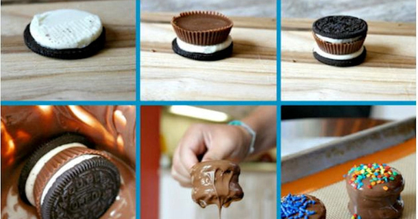 Chocolate Covered Reeces Oreos Food Tutorial
