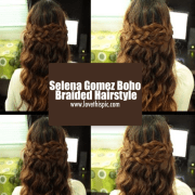 selena gomez boho braided hairstyle