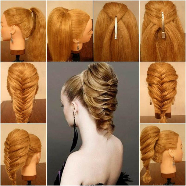 DIY Braided Fishtail Hairstyle