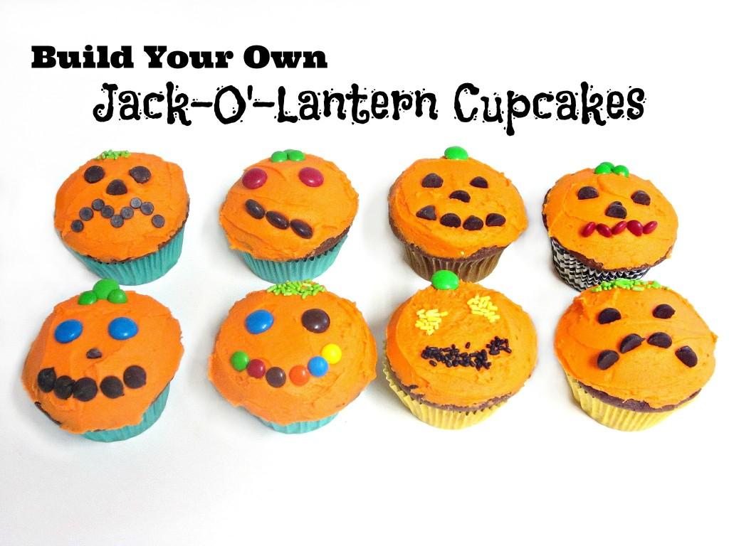 Build Your Own Jack O Lantern Cupcakes