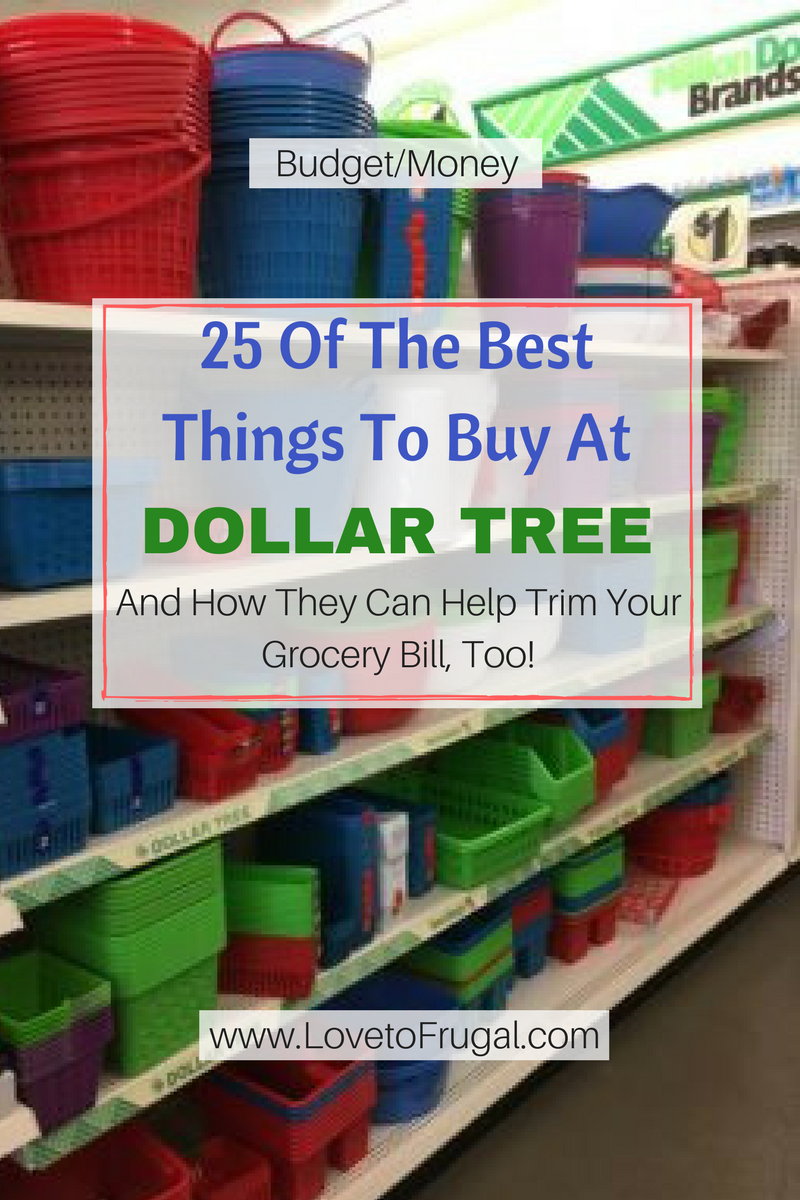 25 Of The Best Things To Buy At Dollar Tree - Love To Frugal