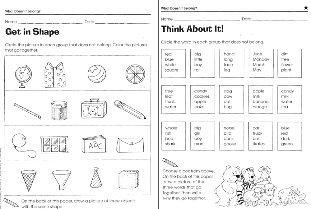 medium resolution of What Doesn't Belong Worksheets   LoveToTeach.org
