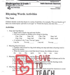 Rhyming Words Activities   LoveToTeach.org [ 1165 x 900 Pixel ]